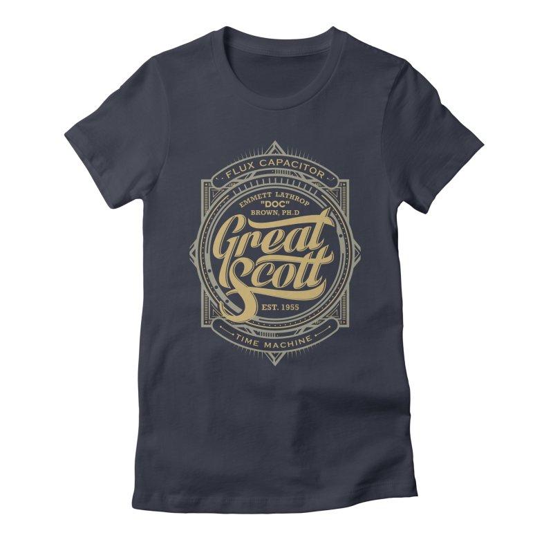 GREAT SCOTT ! Women's Fitted T-Shirt by arace's Artist Shop