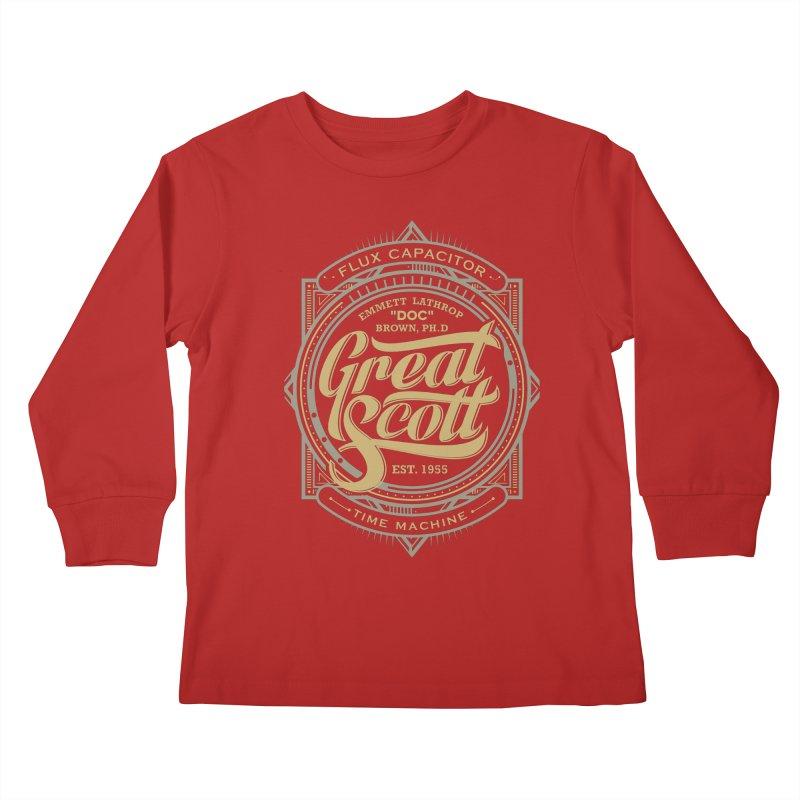 GREAT SCOTT ! Kids Longsleeve T-Shirt by arace's Artist Shop