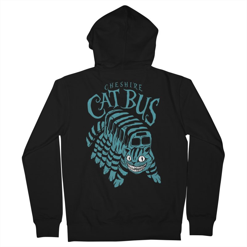 CHESHIRE CAT BUS Women's Zip-Up Hoody by arace's Artist Shop