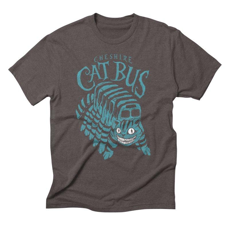 CHESHIRE CAT BUS Men's Triblend T-Shirt by arace's Artist Shop