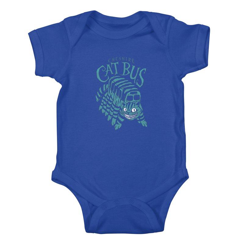 CHESHIRE CAT BUS Kids Baby Bodysuit by arace's Artist Shop