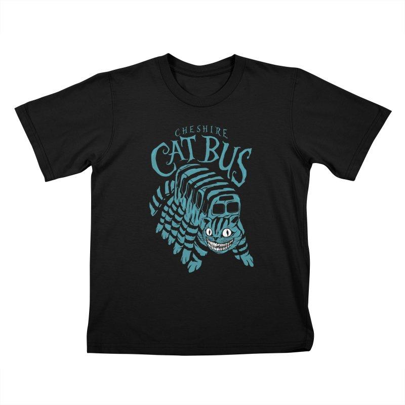 CHESHIRE CAT BUS Kids T-shirt by arace's Artist Shop