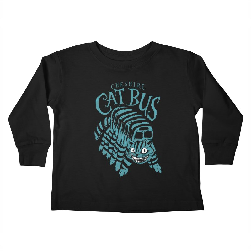 CHESHIRE CAT BUS Kids Toddler Longsleeve T-Shirt by arace's Artist Shop