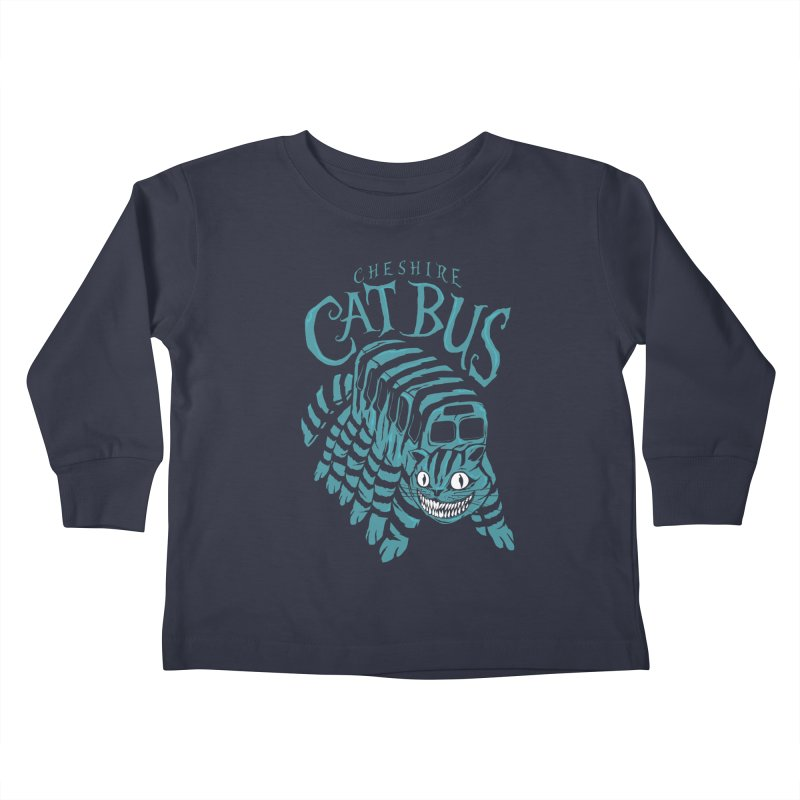 CHESHIRE CAT BUS Kids Toddler Longsleeve T-Shirt by arace's Artist Shop