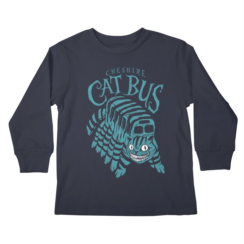 CHESHIRE CAT BUS Kids Longsleeve T-Shirt by arace's Artist Shop