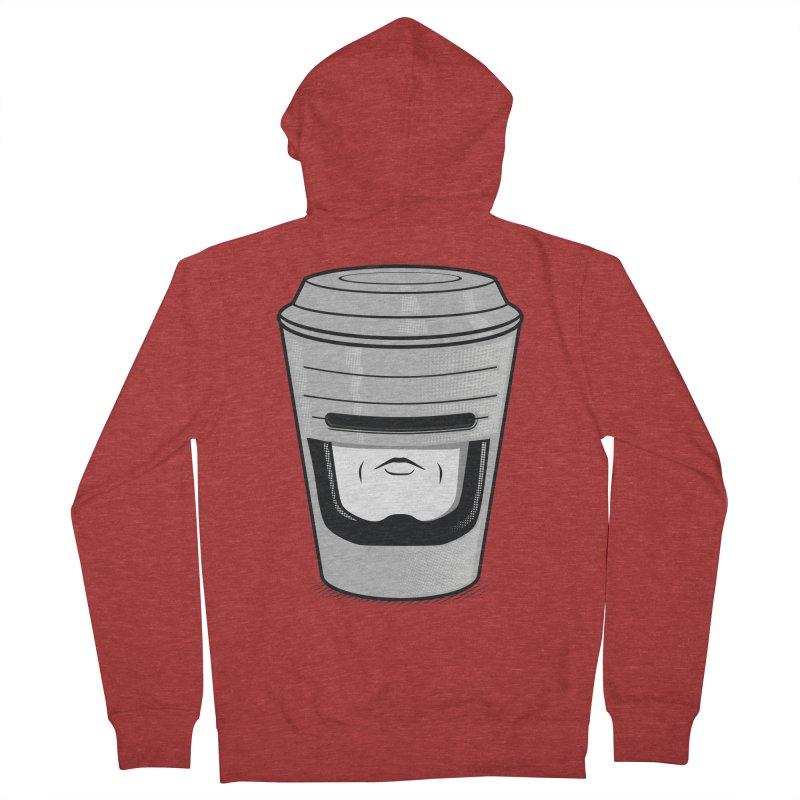 Robo Cup Men's Zip-Up Hoody by arace's Artist Shop