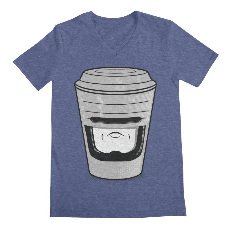 Robo Cup Men's V-Neck by arace's Artist Shop