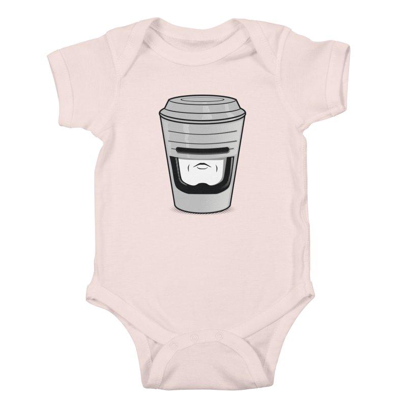 Robo Cup Kids Baby Bodysuit by arace's Artist Shop