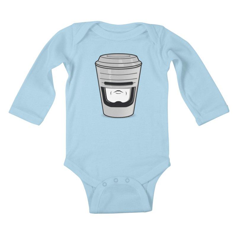 Robo Cup Kids Baby Longsleeve Bodysuit by arace's Artist Shop