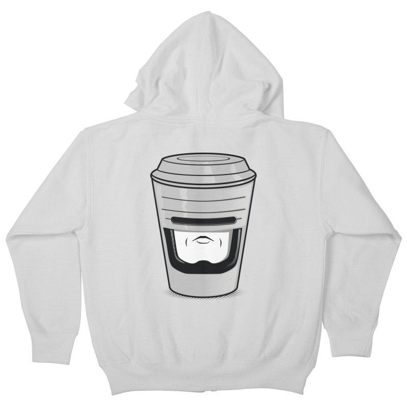 Robo Cup Kids Zip-Up Hoody by arace's Artist Shop