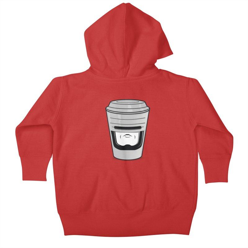 Robo Cup Kids Baby Zip-Up Hoody by arace's Artist Shop