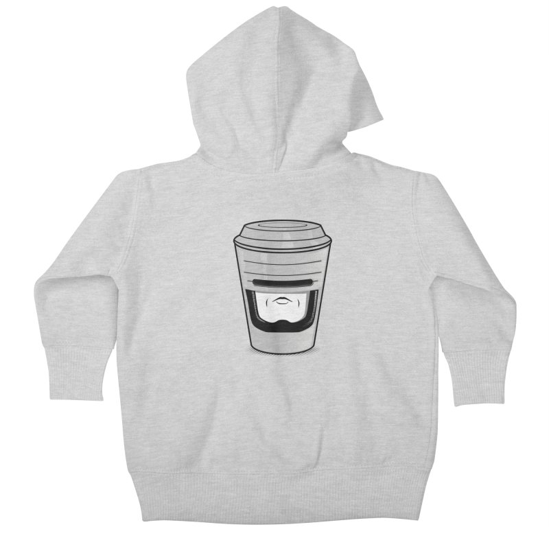 Robo Cup Kids Baby Zip-Up Hoody by arace's Artist Shop