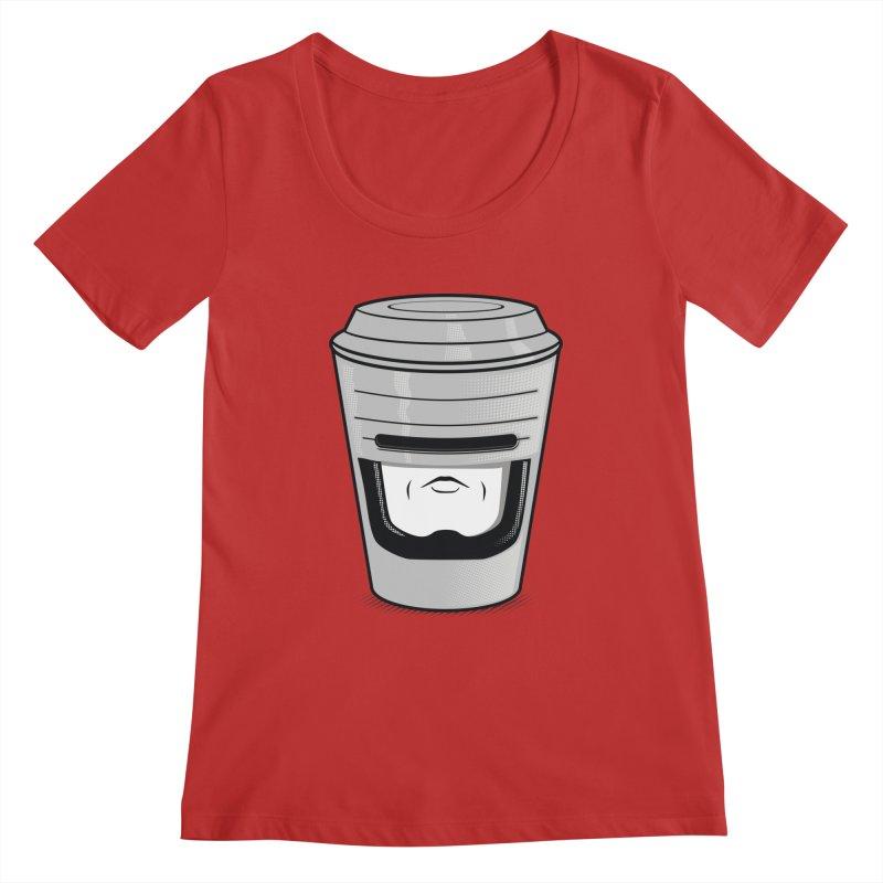 Robo Cup Women's Scoopneck by arace's Artist Shop
