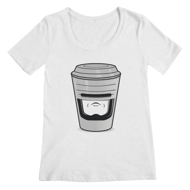 Robo Cup Women's Scoopneck by arace's Artist Shop