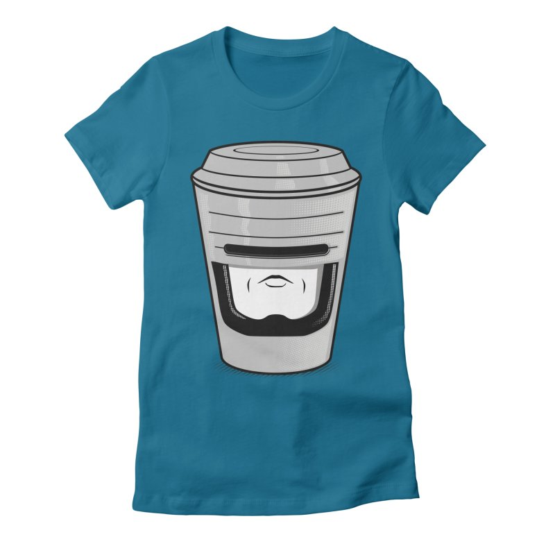 Robo Cup Women's Fitted T-Shirt by arace's Artist Shop