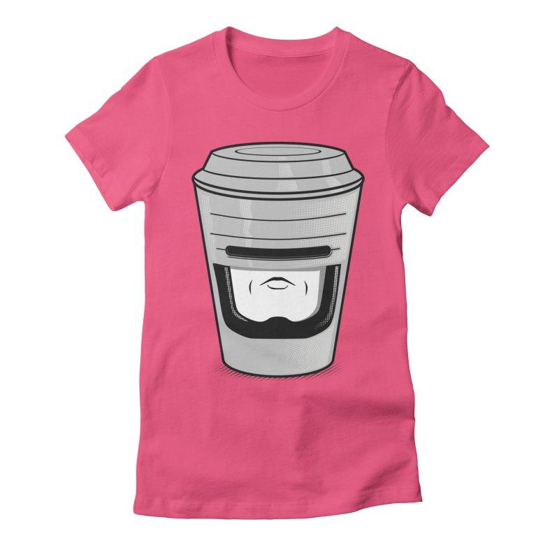 Robo Cup Women's Fitted T-Shirt by arace's Artist Shop