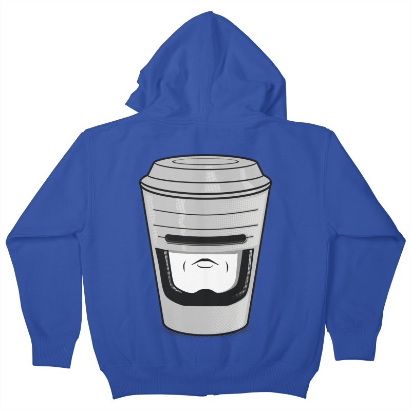 Robo Cup Kids Zip-Up Hoody by arace's Artist Shop
