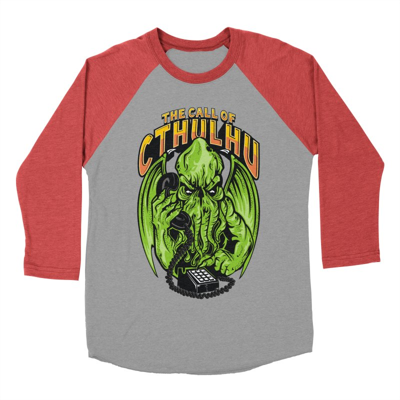 Call of Cthulhu Men's Baseball Triblend T-Shirt by arace's Artist Shop