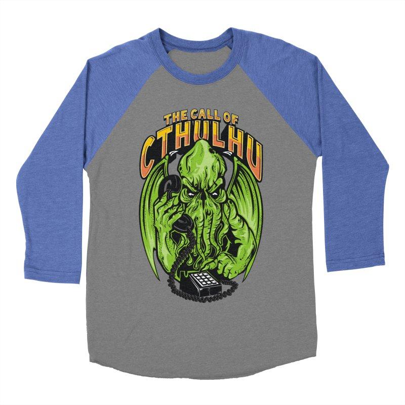 Call of Cthulhu Men's Baseball Triblend T-Shirt by arace's Artist Shop