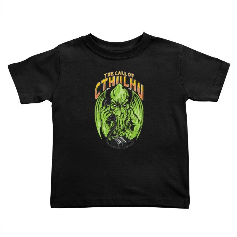 Call of Cthulhu Kids Toddler T-Shirt by arace's Artist Shop