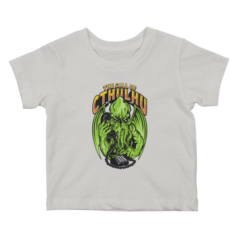 Call of Cthulhu Kids Baby T-Shirt by arace's Artist Shop