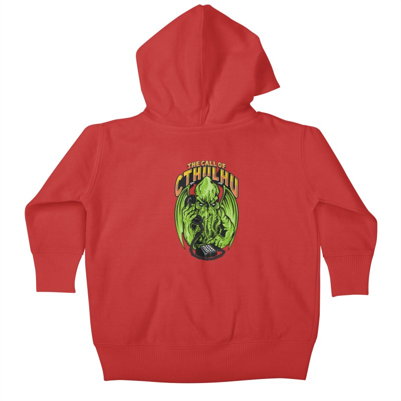 Call of Cthulhu Kids Baby Zip-Up Hoody by arace's Artist Shop