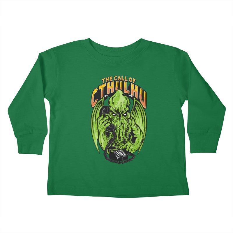 Call of Cthulhu Kids Toddler Longsleeve T-Shirt by arace's Artist Shop