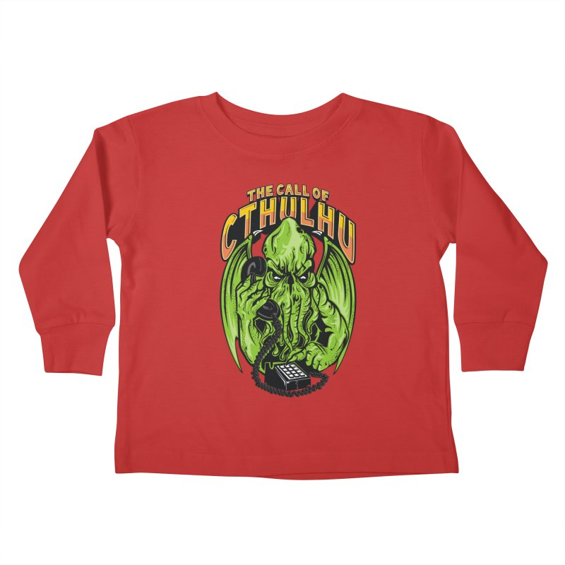 Call of Cthulhu Kids Toddler Longsleeve T-Shirt by arace's Artist Shop