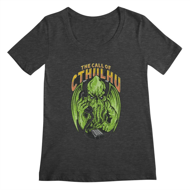 Call of Cthulhu Women's Scoopneck by arace's Artist Shop