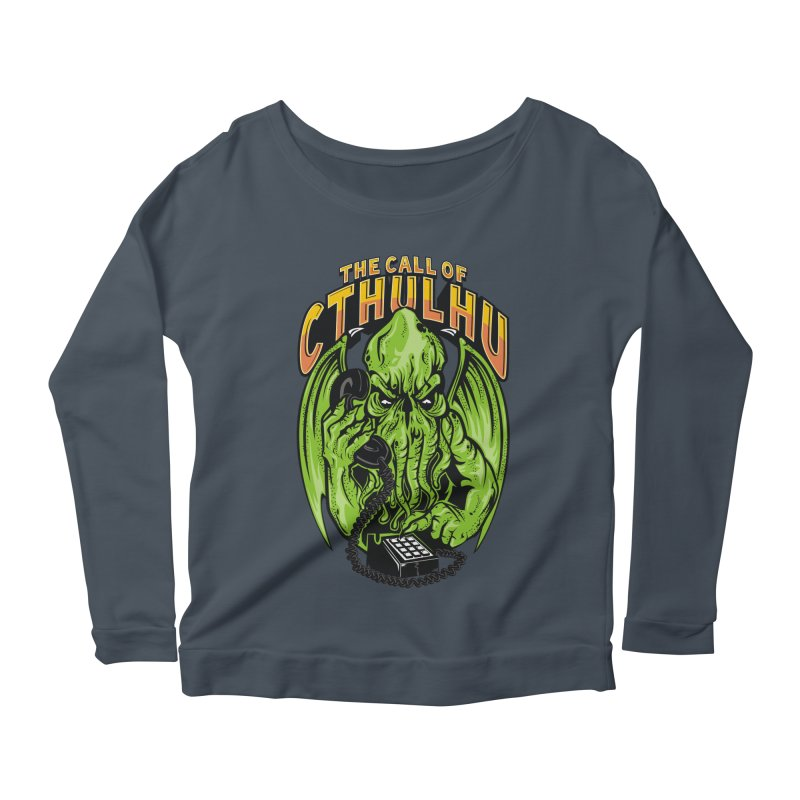 Call of Cthulhu Women's Longsleeve Scoopneck  by arace's Artist Shop