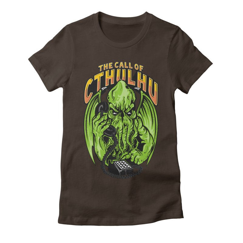 Call of Cthulhu Women's Fitted T-Shirt by arace's Artist Shop