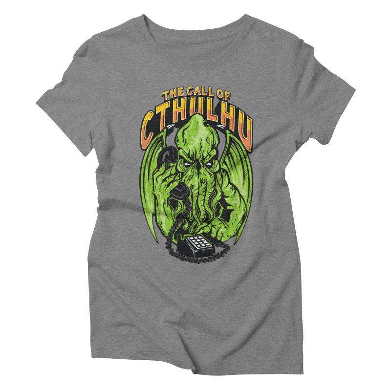 Call of Cthulhu Women's Triblend T-Shirt by arace's Artist Shop