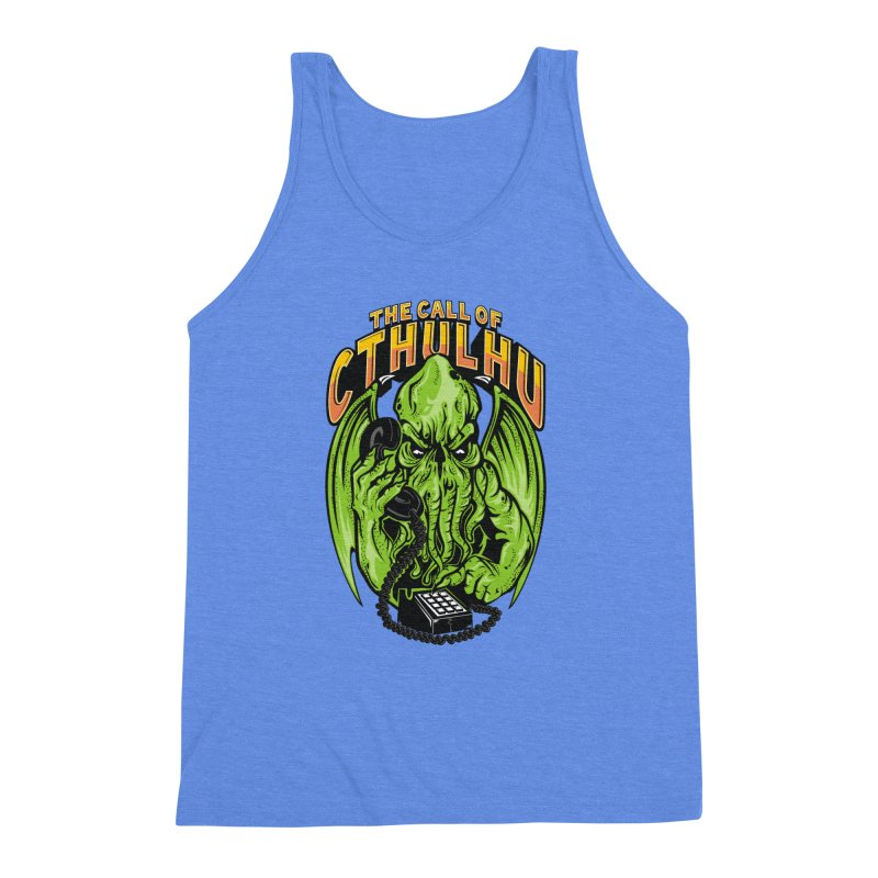 Call of Cthulhu Men's Triblend Tank by arace's Artist Shop