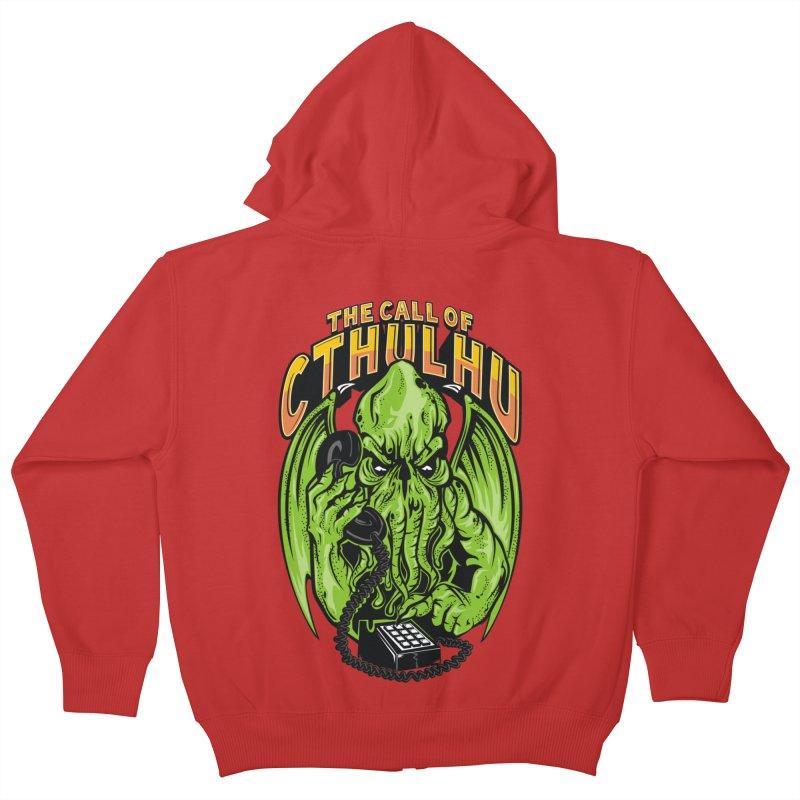 Call of Cthulhu Kids Zip-Up Hoody by arace's Artist Shop