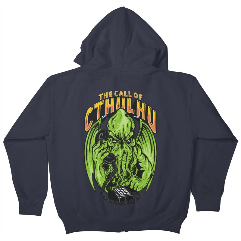 Call of Cthulhu Kids Zip-Up Hoody by arace's Artist Shop