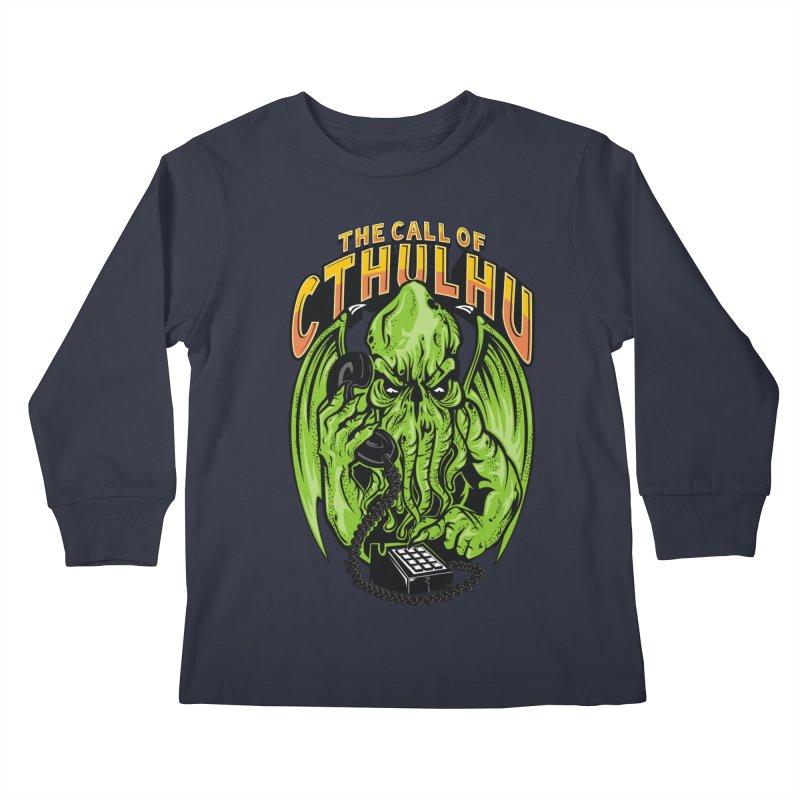 Call of Cthulhu Kids Longsleeve T-Shirt by arace's Artist Shop