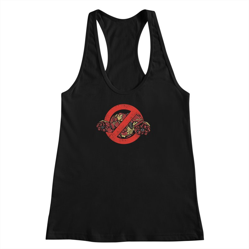 WHO YOU GONNA CALL ? Women's Racerback Tank by arace's Artist Shop