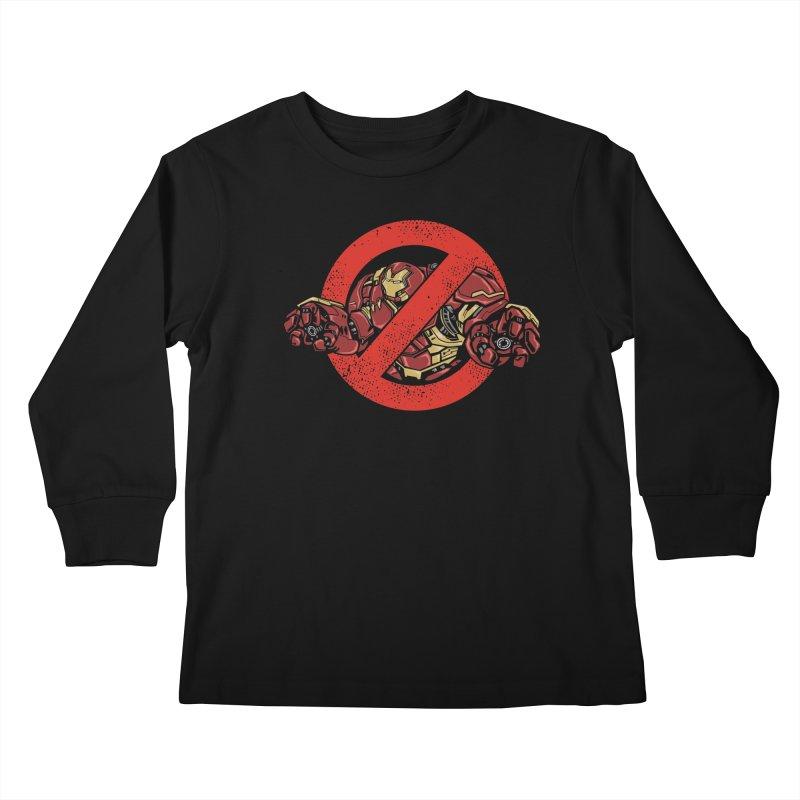 WHO YOU GONNA CALL ? Kids Longsleeve T-Shirt by arace's Artist Shop