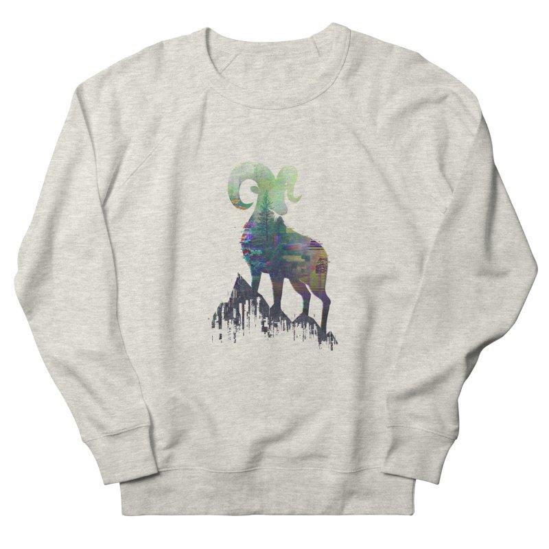 Wild Glitch Men's French Terry Sweatshirt by ARBER KOLONJA's Artist Shop