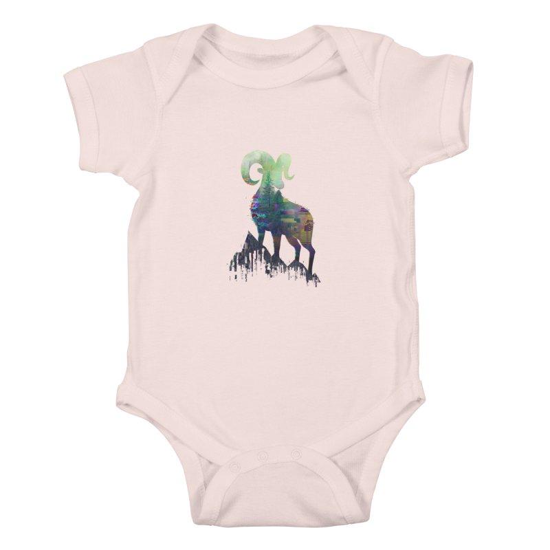 Wild Glitch Kids Baby Bodysuit by ARBER KOLONJA's Artist Shop