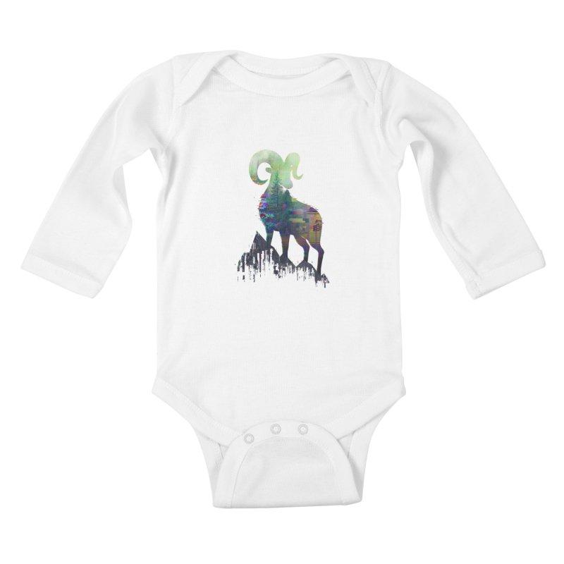 Wild Glitch Kids Baby Longsleeve Bodysuit by ARBER KOLONJA's Artist Shop