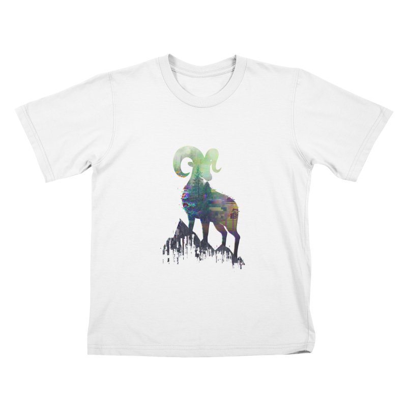 Wild Glitch Kids T-Shirt by ARBER KOLONJA's Artist Shop