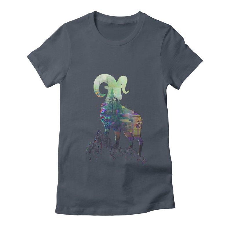 Wild Glitch Women's Fitted T-Shirt by ARBER KOLONJA's Artist Shop