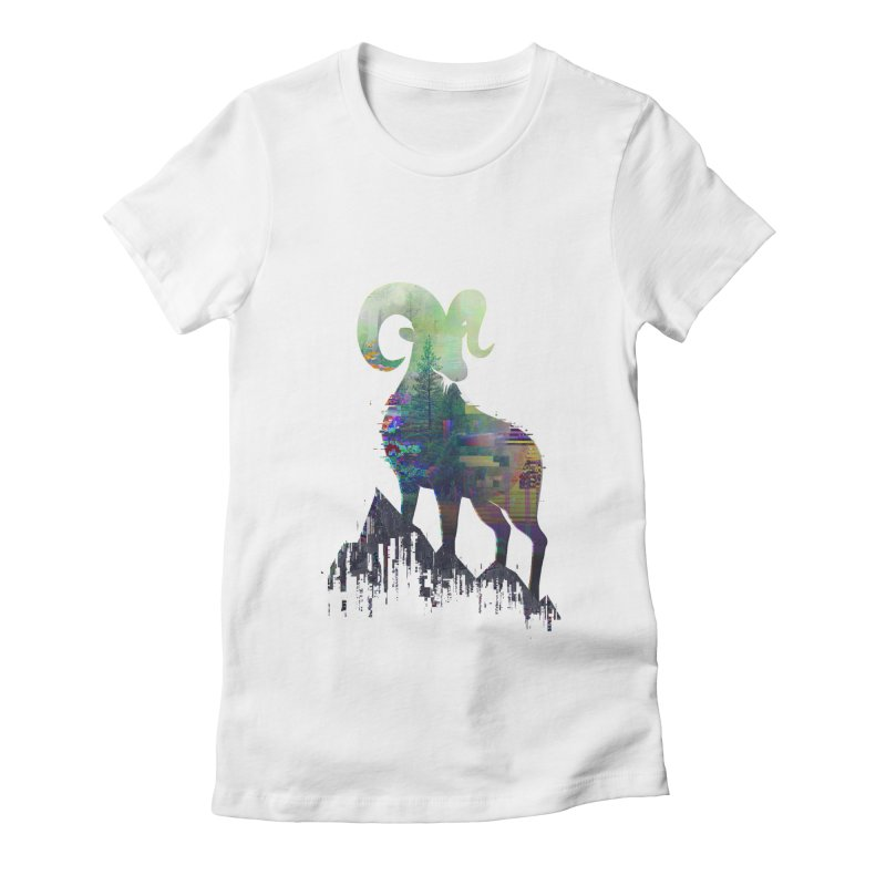 Wild Glitch Women's Fitted T-Shirt by ARBER KOLONJA's Artist Shop