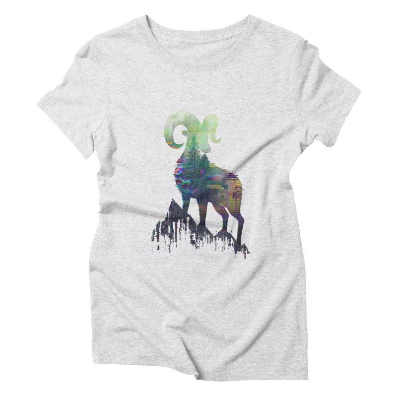 Wild Glitch Women's Triblend T-Shirt by ARBER KOLONJA's Artist Shop