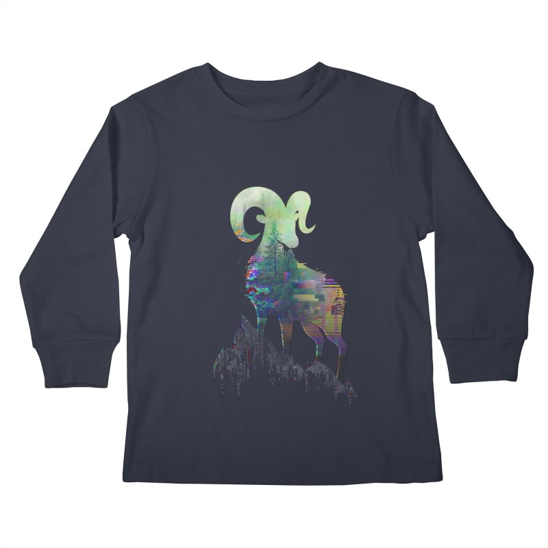 Wild Glitch Kids Longsleeve T-Shirt by ARBER KOLONJA's Artist Shop