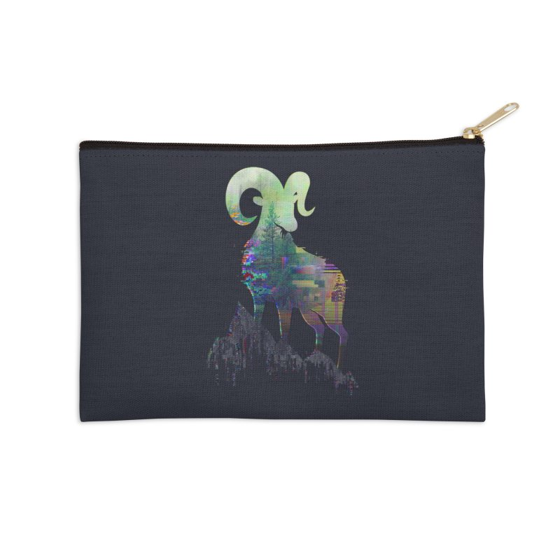 Wild Glitch Accessories Zip Pouch by ARBER KOLONJA's Artist Shop