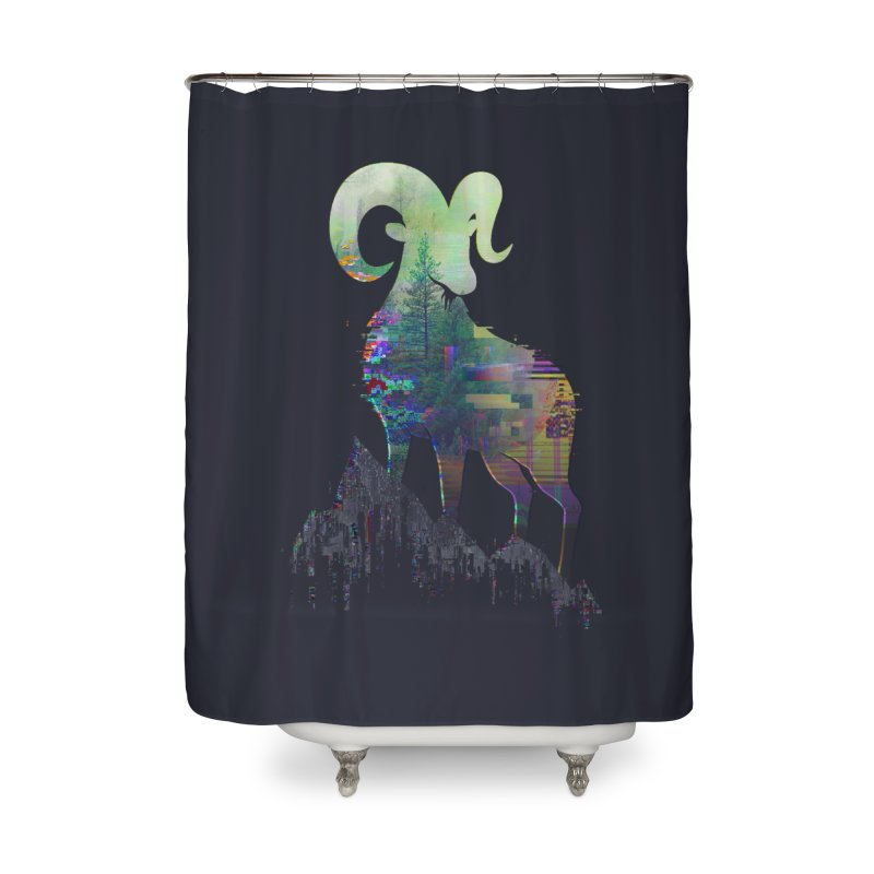 Wild Glitch Home Shower Curtain by ARBER KOLONJA's Artist Shop
