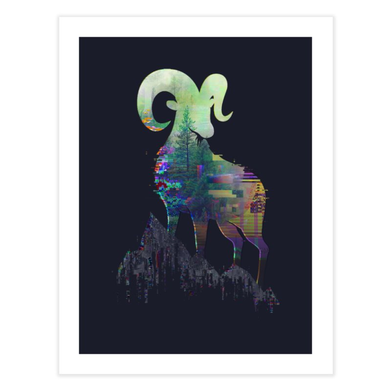 Wild Glitch Home Fine Art Print by ARBER KOLONJA's Artist Shop