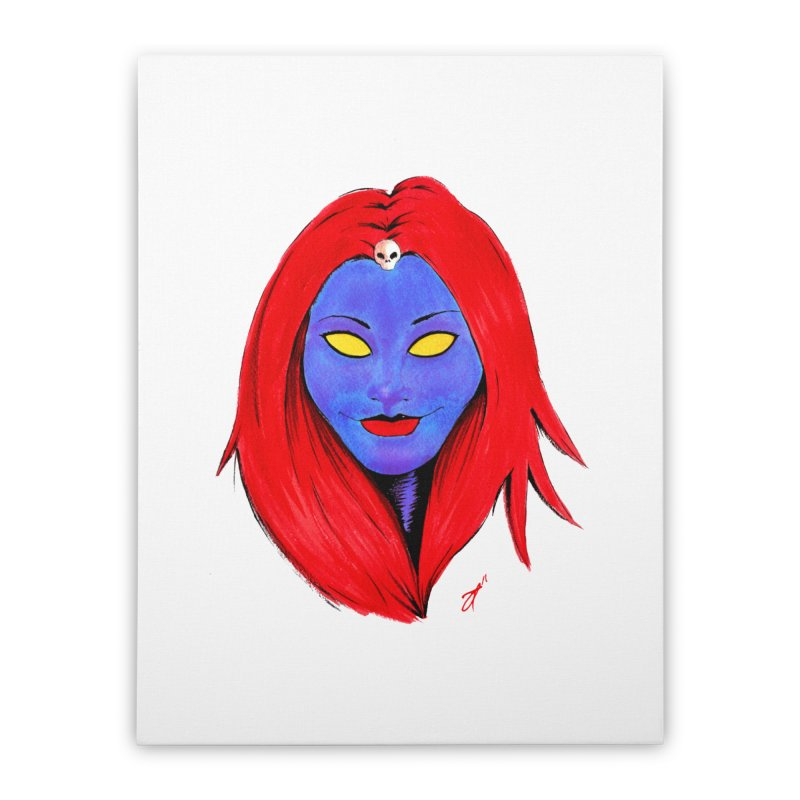 Mystique Home Stretched Canvas by Arcade's Art Shoppe